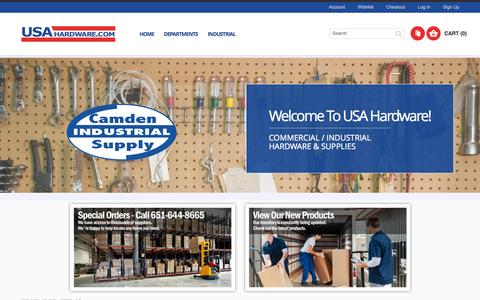 Screenshot of Home Page About Page Privacy Page Signup Page Login Page usahardware.com - Online Hardware Store | USA Hardware - captured Oct. 1, 2014
