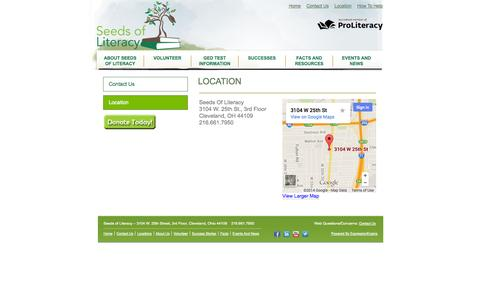 Screenshot of Locations Page seedsofliteracy.org - Locations - Seeds of Literacy - captured Sept. 30, 2014