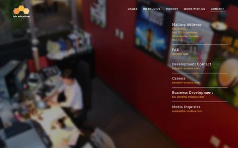 Screenshot of Contact Page hb-studios.com - Contact | HB Studios - captured Dec. 4, 2015