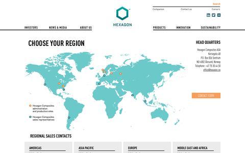 Screenshot of Contact Page hexagon.no - Contact us - Hexagon - captured Sept. 28, 2018