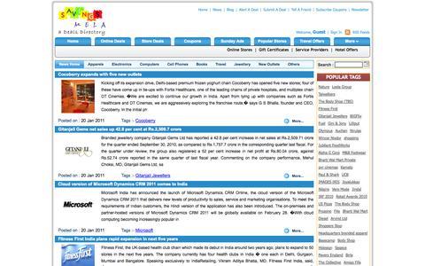 Screenshot of Press Page savingsmela.com - India Deal News | India online shopping news | India Sale offer news | India Shopping News | shopping centre news | Latest Products | india online news | Online Shopping News | India Latest Products  | Discount Offers News India | Online shopping | o - captured Oct. 3, 2014
