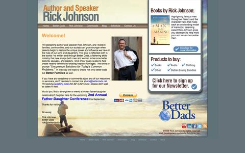 Screenshot of Home Page Blog betterdads.net - Parenting, Marriage Guidance, Fathering Skills and Personal Growth : Rick Johnson - captured Sept. 30, 2014