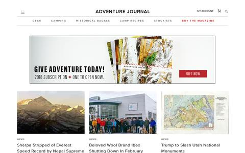 News Archives - adventure journal