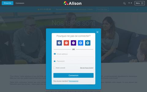 Screenshot of Jobs Page alison.com - Exceptional Ambition Requires Exceptional Talent | Alison - captured July 15, 2017