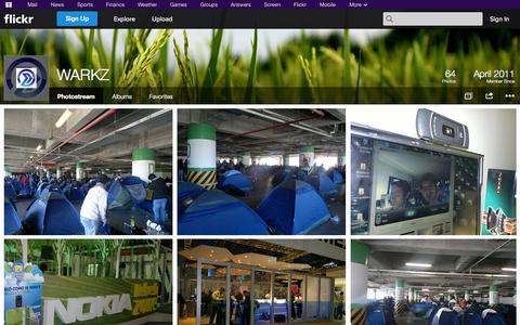 Screenshot of Flickr Page flickr.com - Flickr: WARKZ's Photostream - captured Oct. 26, 2014