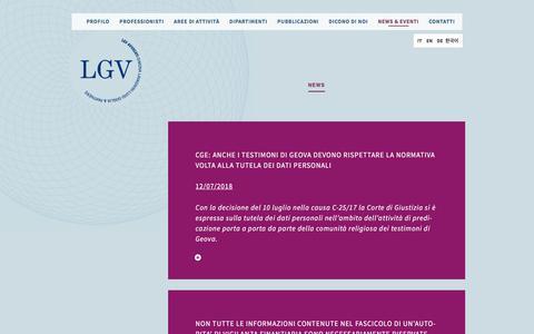 Screenshot of Press Page lgvavvocati.it - Archivi News - LGV Avvocati | Studio legale indipendente - captured July 15, 2018