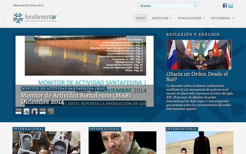 Screenshot of Home Page fundamentar.com - Fundamentar - Portal de Análisis Político, Económico e Internacional - captured Jan. 28, 2015