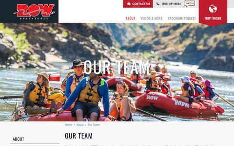 Screenshot of Team Page rowadventures.com - Our Team | ROW Adventures - captured Nov. 8, 2018
