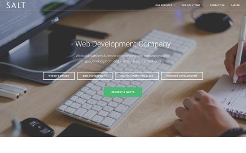 Screenshot of Services Page salttechno.com - Website Design, Web Development Company in Pune, Mumbai. - captured Oct. 20, 2015