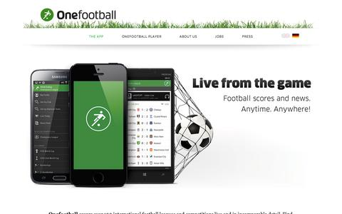 Screenshot of Home Page onefootball.com - Onefootball - captured Sept. 17, 2014