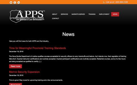 Screenshot of Press Page apps.ca - News - captured Sept. 30, 2017