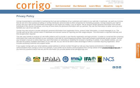 Privacy Policy | Corrigo