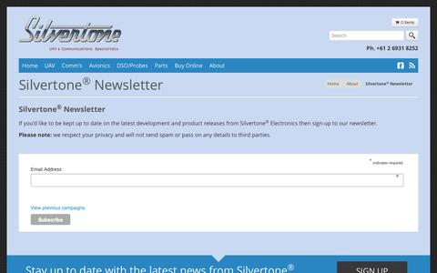Screenshot of Signup Page silvertone.com.au - Silvertone Newsletter | Silvertone Electronics - captured Dec. 19, 2016