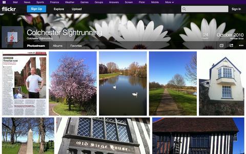 Screenshot of Flickr Page flickr.com - Flickr: Colchester Sightrunning's Photostream - captured Oct. 22, 2014