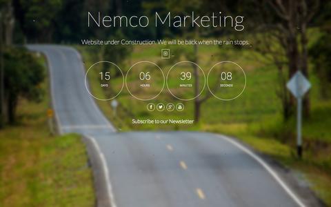 Screenshot of Home Page nemco.com.au - Nemco Marketing - captured Jan. 26, 2015