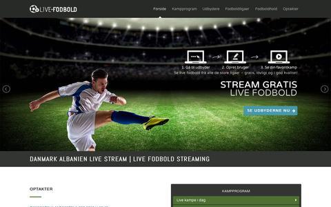 Screenshot of Home Page live-fodbold.dk - Danmark Albanien Live Stream - captured Aug. 31, 2015