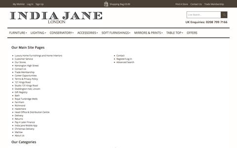 Screenshot of Site Map Page indiajane.co.uk - India Jane -  Sitemap - captured Jan. 9, 2016