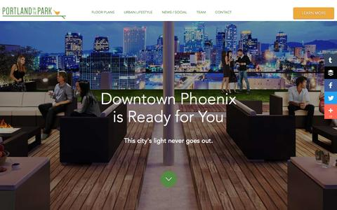 Screenshot of Maps & Directions Page portlandparkcondos.com - Downtown Phoenix Lifestyle - captured May 6, 2016