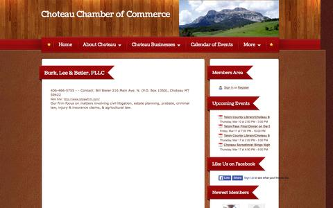 Screenshot of Terms Page choteaumontana.us - Choteau Chamber of Commerce - Legal - captured March 10, 2016