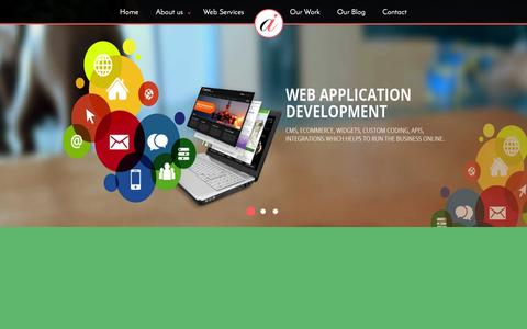 Screenshot of Home Page ankinfo.com - Ank Informatics - captured Feb. 6, 2016