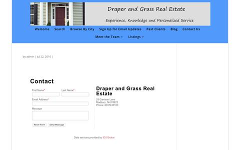 Screenshot of Contact Page idxbroker.com - Draper and Grass - Draper and Grass Real Estate - captured Oct. 13, 2017