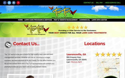 Screenshot of Contact Page topturf.net - 01-Contact Us – Top Turf - captured Dec. 15, 2016