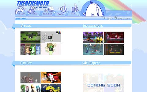 Screenshot of Press Page thebehemoth.com - The Behemoth - We Make Games - captured Feb. 19, 2016