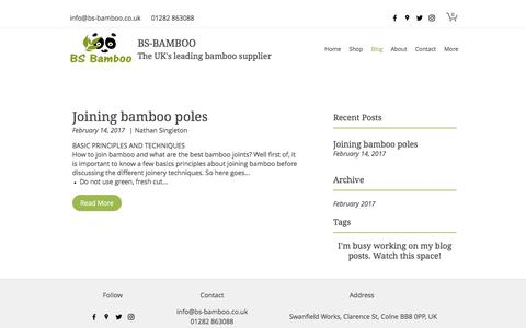 Screenshot of Blog bs-bamboo.co.uk - Blog | BS-Bamboo - captured March 2, 2017
