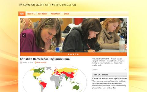 Screenshot of Home Page smartmetric.us - Come On Smart With Metric Education - captured March 13, 2016