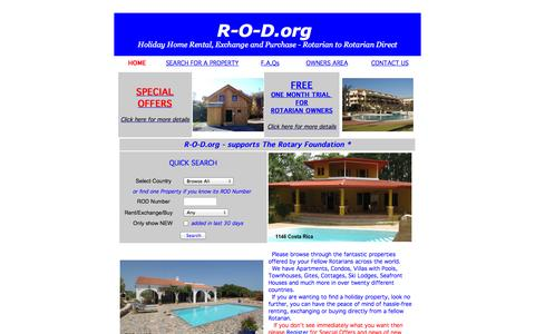 Screenshot of Home Page r-o-d.org - r-o-d.org - captured Oct. 6, 2014
