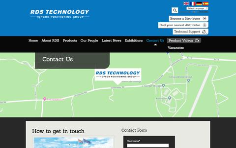Screenshot of Contact Page rdstec.com - Contact Us - RDS Technology - captured Oct. 20, 2018