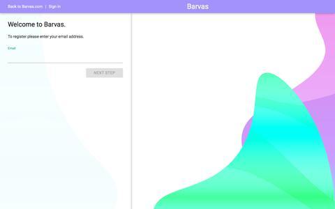Screenshot of Signup Page barvas.com - Barvas - captured July 9, 2018