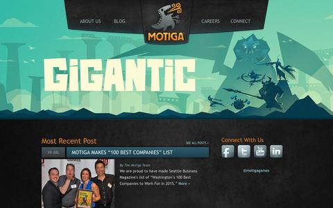 Screenshot of Home Page motiga.com - Motiga | An Independent PC Online Game Studio - captured Nov. 17, 2015