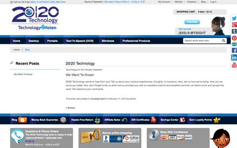 Screenshot of Blog technology4vision.com - 20/20 Technology - captured Oct. 27, 2014