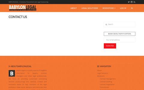 Screenshot of Contact Page babylonlegal.com - Contact Us | BabylonLegal - captured Dec. 28, 2015