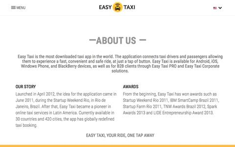 Screenshot of About Page easytaxi.com - Our Story - About Us - Easy Taxi - captured Nov. 10, 2015