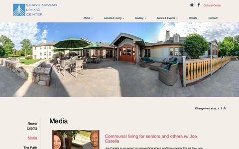 Screenshot of Press Page slcenter.org - Scandinavian Living Center - News & Events at the Scandinavian Living Center - captured Oct. 2, 2018