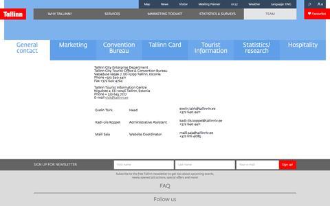 Screenshot of Team Page visittallinn.ee - General contact - VisitTallinn - captured May 27, 2016