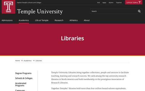Libraries | Temple University