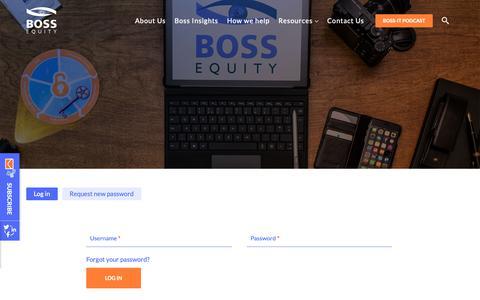 Screenshot of Login Page documentboss.com - User account | Boss Equity - captured Nov. 6, 2018