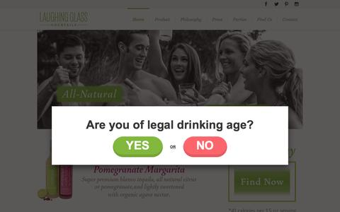 Screenshot of Home Page laughingglasscocktails.com - Laughing Glass Cocktails | - captured Dec. 7, 2015