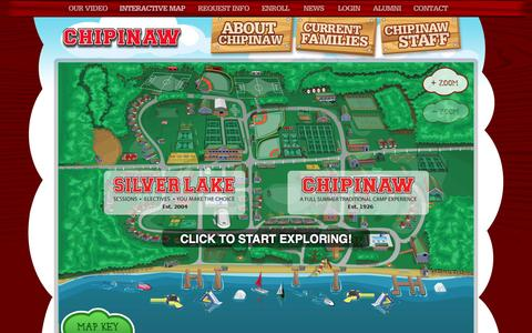 Screenshot of Maps & Directions Page chipinaw.com - Interactive Map of Chipinaw | The Spirit of Summer - captured March 26, 2016