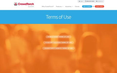 Screenshot of Terms Page crowdtorch.com - CrowdTorch - Terms of Use - captured Sept. 24, 2014