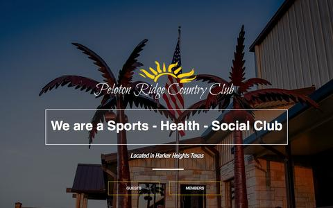 Screenshot of Menu Page pelotonridge.com - Peloton Ridge Country Club - captured Sept. 27, 2015