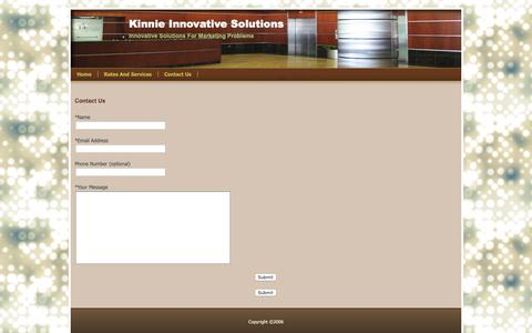 Screenshot of Contact Page kinnieims.com - Contact Us - Kinnie Innovative Solutions - captured Oct. 15, 2018