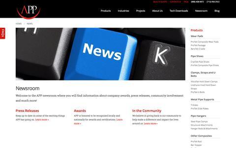 Screenshot of Press Page appinc.co - Latest News | Newsroom | APP - captured Nov. 20, 2016