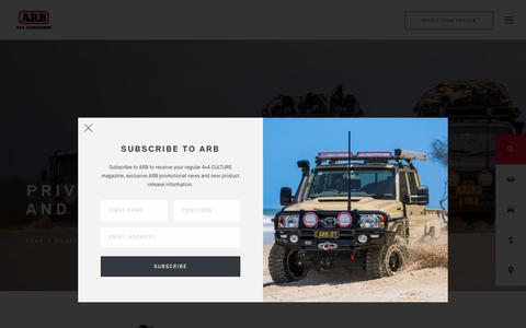 Screenshot of Privacy Page arb.com.au - ARB 4×4 Accessories | Privacy & Legal - ARB 4x4 Accessories - captured Sept. 5, 2019