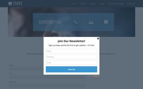 Screenshot of Contact Page jmhpremium.com - Contact Us ⋆ JMH Premium - captured Oct. 2, 2018