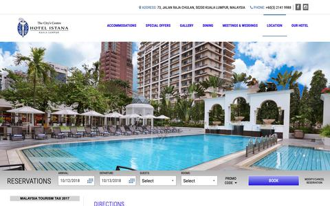 Screenshot of Maps & Directions Page hotelistana.com.my - Hotel Istana :: Directions - captured Oct. 13, 2018
