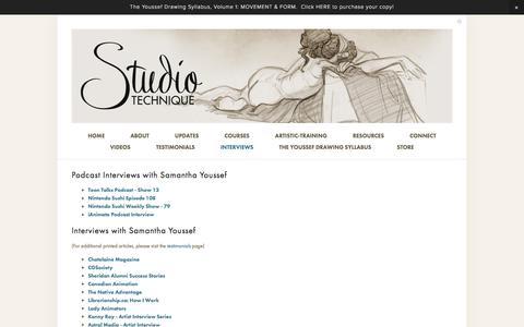 Screenshot of Press Page studio-technique.com - Interviews — Studio Technique - captured Feb. 26, 2016
